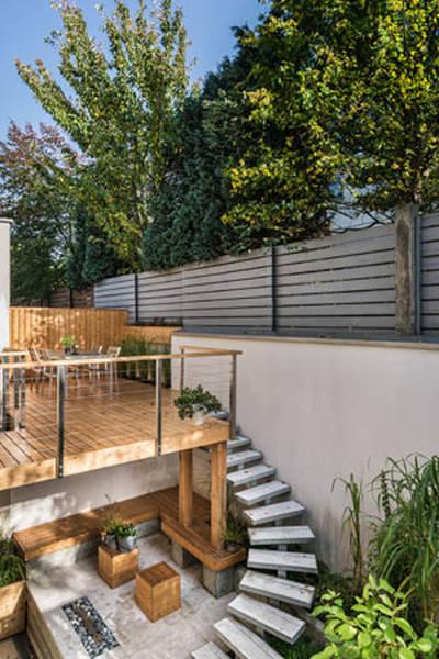 terrasse bois devant veranda